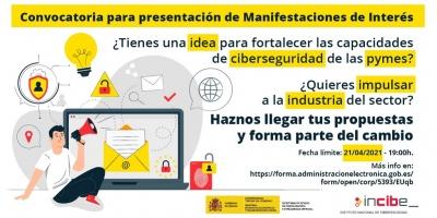 Manifestaciones de interés relativas al fortalecimiento de las capacidades de ciberseguridad de las pymes y el impulso de la Industria de Ciberseguridad en el marco del Plan de Recuperación, Transformación y Resiliencia