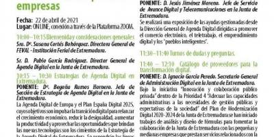 """Webinar """"Estrategia Digital de Extremadura para las empresas"""""""