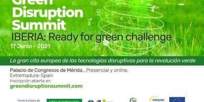 """El I Encuentro Europeo de Tecnologías Disruptivas para la Revolución Verde """"Green Disruption Summit"""" se celebra en junio en Mérida"""